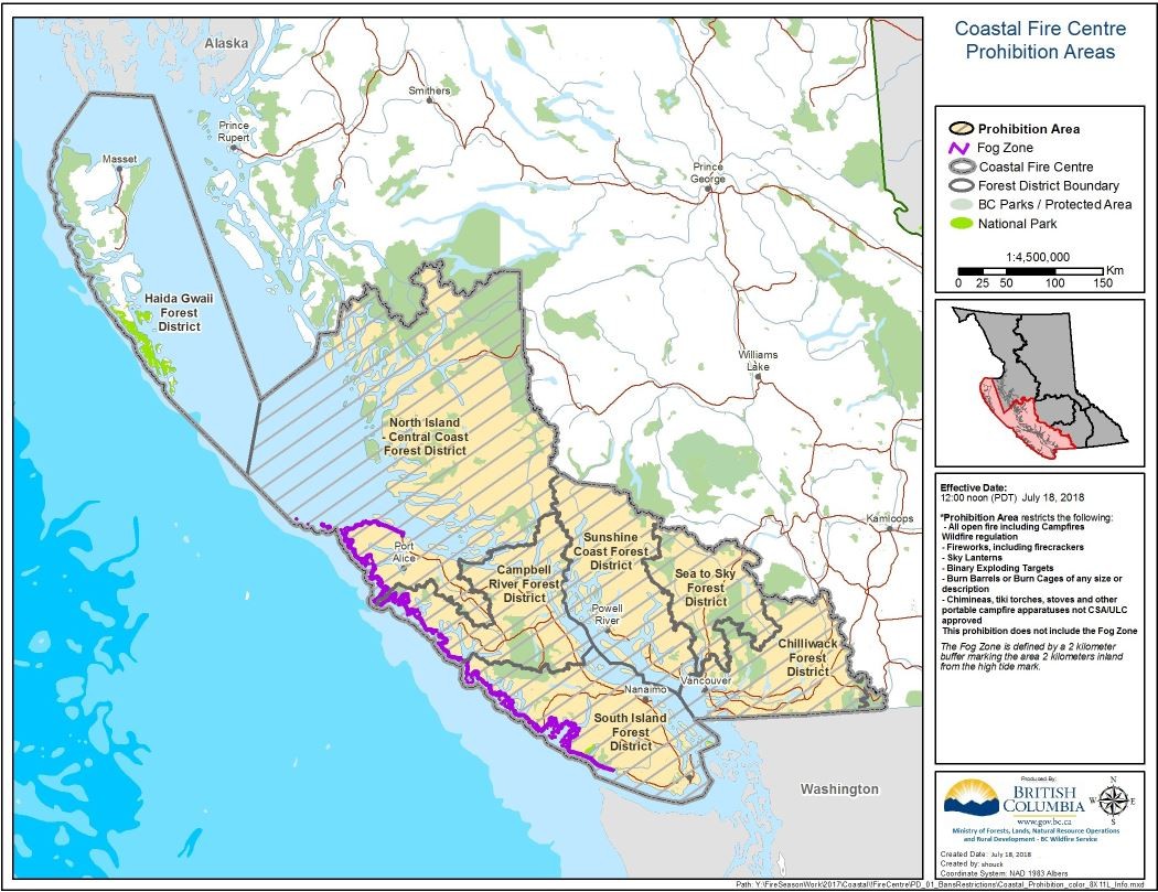 Mid Summer Heatwave Leads To Campfire Ban In Coastal Fire Centre