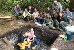 The excavation team from the University of Victoria last came to Keith Island in the summer of 2019. (Submitted photo)