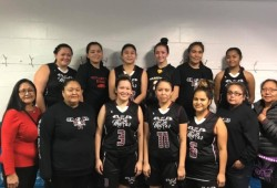 The Maaqtusiis Ma'as were able to win two games before being eliminated at this year's All Native Basketball Tournament in Prince Rupert. (Carol Thomas photo)