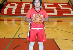 Grade 11 student Jordan Mack, who was named student athlete of the month in November, is gearing up for his first Totem Tournament as a member of the Armada Senior Boys team.